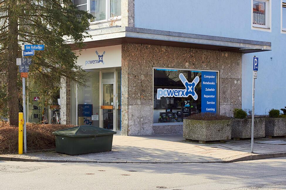 Fassade unserer Computer-Werkstatt in Rosenheim